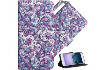 (A] Whirlpool Pattern) - COTDINFOR Nokia 6.1 Plus 2018 Cover 3D Effect Painted Premium PU Leather Wallet Case With Magnetic Clasp Shockproof Card Holder For Nokia X6 / Nokia 6.1 Plus Whirlpool Pattern YX.