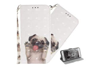 (T: Funny Pug) - COTDINFOR Nokia X6 Case Cute Animal 3D Effect Painted PU Leather Wallet Cover Flip Magnetic Clasp Shockproof Card Holder Stand Case for Nokia 6.1 Plus 2018 / Nokia X6 Funny Pug TX.