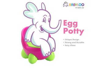 (Pink/Green) - Babyloo Egg Potty (Pink/Green)