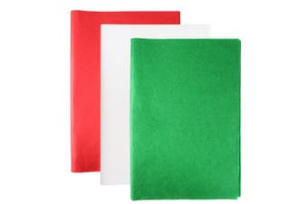 (Red, Green,and White) - Aneco 120 Sheets Christmas Tissue Paper 38cm x 50cm Christmas Wrapping Paper for DIY and Craft Gift Bags Decorations,Red, Green and White