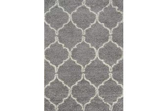 (0.6m x 0.9m, Grey) - Momeni Rugs Maya Collection, Ultra Thick Pile Shag Area Rug, 0.6m x 0.9m, Grey