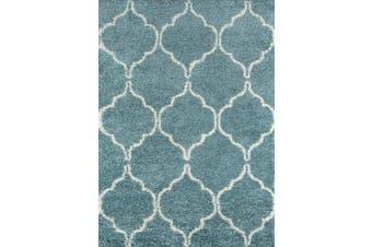 (0.6m x 0.9m, Blue) - Momeni Rugs Maya Collection, Ultra Thick Pile Shag Area Rug, 0.6m x 0.9m, Blue