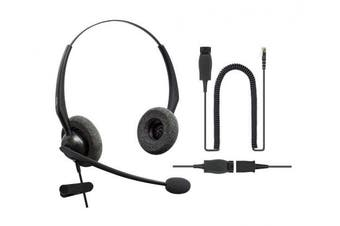 DailyHeadset RJ9 NC Phone Headset Binaural Directly to Avaya IP Phones 1600, 9600, J100 Series Model