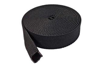 (2.5cm  - 15m, Black) - Electriduct 2.5cm Nylon Protective Hose Sleeve - 15m - Black