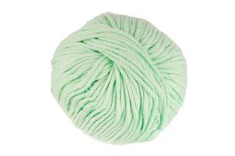 (2 Skeins, Green Mint) - JubileeYarn Bamboo Cotton Chunky Yarn - Green Mint - 2 Skeins