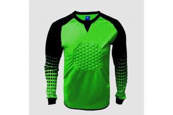 (Small, Green) - 1 Stop Soccer Soccer Goalkeeper Goalie Shirt Youth (Small, Green)