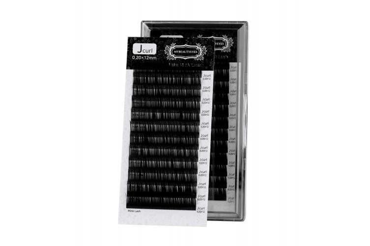 (0.20mm, 13mm) - Eyelash Extension Fake Mink Lash/Individual Eyelash Extension Supplies Salon Use/J Curl/Thickness 0.07~0.25mm, Length 8-15mm Mixed Tray (0.20mm, 13mm)
