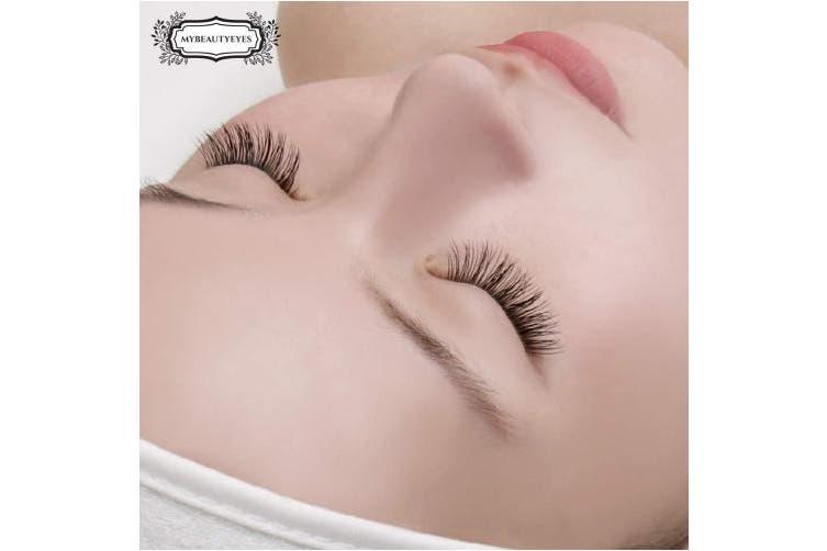 (0.10mm, 12mm) - Eyelash Extension Fake Mink Lash/Individual Eyelash Extension Supplies Salon Use/B Curl/Thickness 0.07~0.25mm, Length 8-15mm Mixed Tray (0.10mm, 12mm)