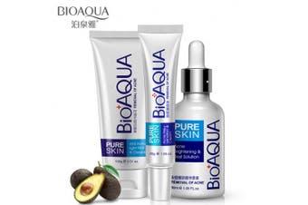 BIOAQUA 3in1 Face Acne Treatment Scar Removal Spots Whitening Oil Cream Scar Blemish Marks Moisturising Oil 100g+30g+30ml