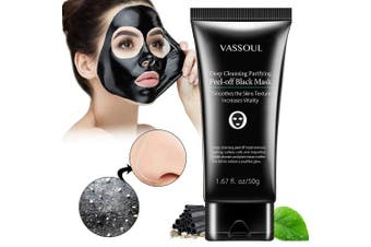 (size2) - Blackhead Remover Mask, Peel Off Blackhead Mask, Blackhead Remover - Deep Cleansing Black Mask, Bamboo Activated Charcoal Peel-Off Mask