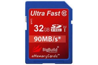 (32GB) - eMemoryCards 32GB Ultra Fast 90MB/s Memory Card for Panasonic Lumix DMC-LX15 Camera | Class 10 SD SDHC