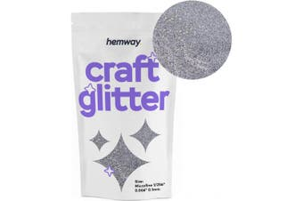 "(SILVER) - Hemway Craft Glitter Microfine 1/256"" .004"" 0.1MM (Silver)"