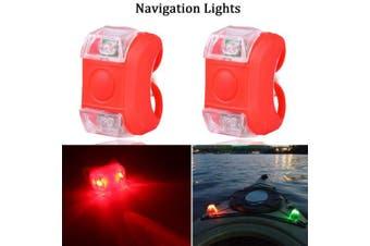 (Red) - Botepon Marine Boat Bow Led Navigation Lights Stern Lights Emergency Lights for Boat Pontoon Kayak Dinghy Yacht Vessel Catamaran