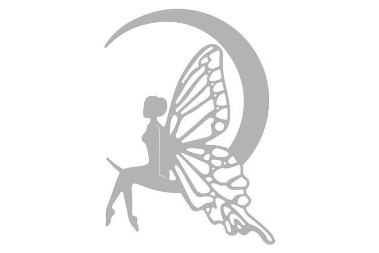 Sizzix 663369 Fairy Moon Dies, One Size, Multicolour