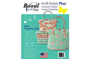 Bosal in-R-Form Plus Unique Fusible Foam Stabiliser 60cm by 150cm for Aunties Two Little Poppins Bag Pattern
