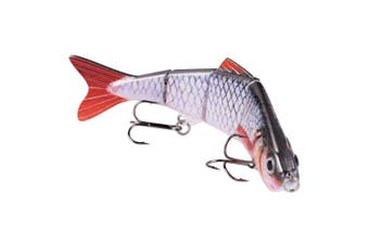 BOMSO Multisection Series 5pcs/1pc Fishing Lure Swimbait Multi Jointed Artificial Bait Crankbait Hard Bait 12cm 17g High Carbon Steel 6# Treble Hook