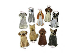 (Dog-9) - Cieovo 9pcs/Set Cute Dog Iron On Patches Clothing Backpack Decoration Small Embroidered Applique for Jackets, Jeans, Bags, Clothing, Arts Crafts DIY Decoration
