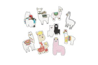 Cieovo 9 pcs Sheep Patch Alpaca Patch Iron On/Sew On Patch Embroidered Badge Patch Children's Clothing Decorative Applique Patches for Bag Shoes Pants Jeans Jackets
