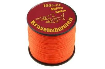 (500M, 60lb) - Bravefishermen Super Strong Pe Braided Fishing Line 2.7kg to 2.7kg Fluorescent Orange