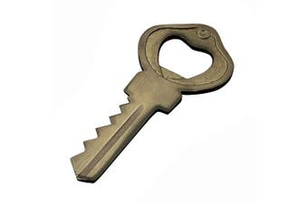 RoyaltyRoute Handcrafted Sold brass Key Shaped Bottle Opener - Hand Held Cork Screw Can Opener - Bartender Beer Bottle Opener - Gifts for Groomsman, Bar or Him