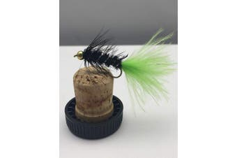 BestCity Fly Fishing Trout Flies PRIME GOLD BEADHEAD TADPOLE VIVA LURES pack of 10 size 10