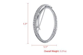 (O) - Vivilly 1Pcs A to Z 26 English Letters Silver Plated Metal Clear AAA+ Crystal Lapel Pin Brooches Collar
