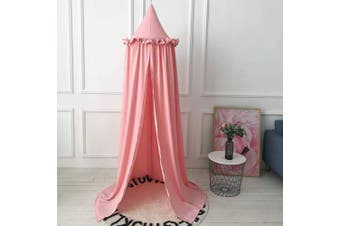 (50*240cm, Pink) - Mosquito Net Bed Canopy Play Tent Bedding for Kids Playing Reading with Children Round Lace Dome Netting Curtains Baby Boys and Girls Games House (Pink)