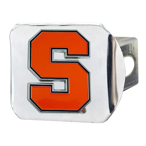 Chrome Chromehitch Cover FANMATS NCAA Syracuse Orange Hitch Cover Team Colors One Sized