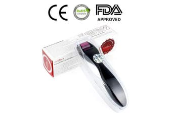 (AG600 | 2.5mm) - Aufgeld AG600 Titanium Detachable Microneedle Derma Roller with Removable Replaceable Head Skin Care for Face Wrinkles Hair Regrowth Loss Stretch Marks Micro Needles Microneedling Needling Kit 2.5mm