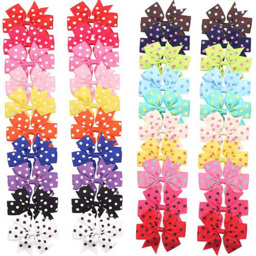 20-Pieces Baby Girls Grosgrain Ribbon Bows Hair Bow Clips Barrettes for Girl Teens Kids Babies Toddlers