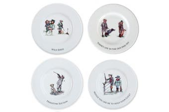 Bryn Parry Sex in the Country Set of 4 illustrated Cheese plates. Shooting gifts for hunters.