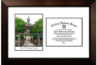 "(22cm  x 28cm , Team Color) - Campus Images ""Rutgers University, The State University of New Jersey, Legacy Scholar Diploma Frame, 22cm x 28cm"