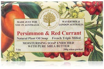 (Persimmon & Red Currant) - Wavertree & London Persimmon & Red Currant luxury soap (1 bar)