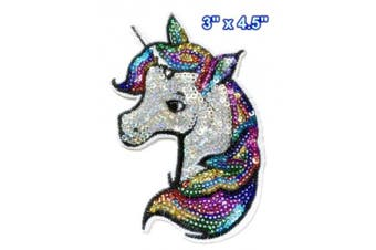 Iron on Patches#19,Unicorn Sequin Embroidered Patches, DIY Badge Patches Clothing Cute Patch by BossBee