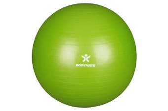 (55 cm (for body size <155cm), Lime-Green) - BODYMATE Exercise Ball - E-book with extensive exercise guides included - Swiss balls gym-quality for fitness birthing pregnancy - Air pump included - Anti-Burst ball chair sizes