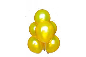 (Gold) - BABYJOYBALLOONS: 0.3m gold colour latex balloon for party decoration, 100 pieces (gold)