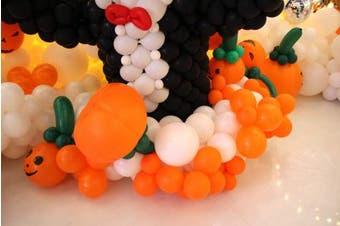 (Orange) - BABYJOYBALLOONS: 0.3m orange colour latex balloon for party decoration, 100 pieces (orange)