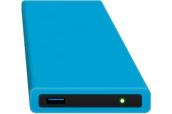 (blue, ohne Festplatte) - Hipdisk 6.4cm Aluminium USB 3.0 External Hard Drive with Silicone Protective Case for SATA Hard Drive and SSD Shockproof Waterproof blue ohne Festplatte