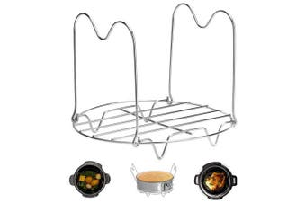 (3 & 4.7l) - Steamer Rack Trivet with Handles Compatible with Instant Pot Accessories 2.8l 2.8l, Pressure Cooker Trivet Wire Steam Rack, Great for Lifting out Whatever Delicious Meats & Veggies You Cook