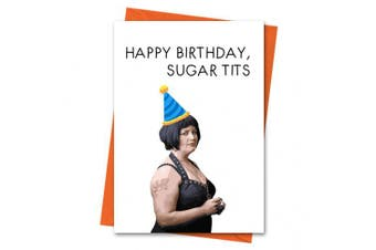 Gavin and Stacey Birthday Card, Funny Birthday Card, Stacey Card, Nessa Card, Happy Birthday Sugar Tits Greeting Card