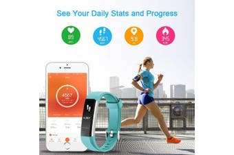 (Green) - LETSCOM Fitness Tracker with Heart Rate Monitor, Slim Sports Activity Tracker Watch, Waterproof Pedometer Watch with Sleep Monitor, Step Tracker for Kids, Women, and Men