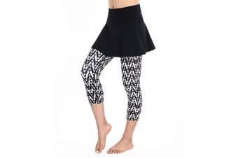 (XXX-Large, Stripe Color) - ANIVIVO Skirted Tennis Legging for Women, Skirted Capri Leggings Tennis Pants for Women & Sports Capri Skirted Leggings