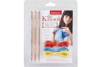 The Knook: Beginner Set Medium Weight Yarn (Now You Can Knit with a Crochet Hook!)