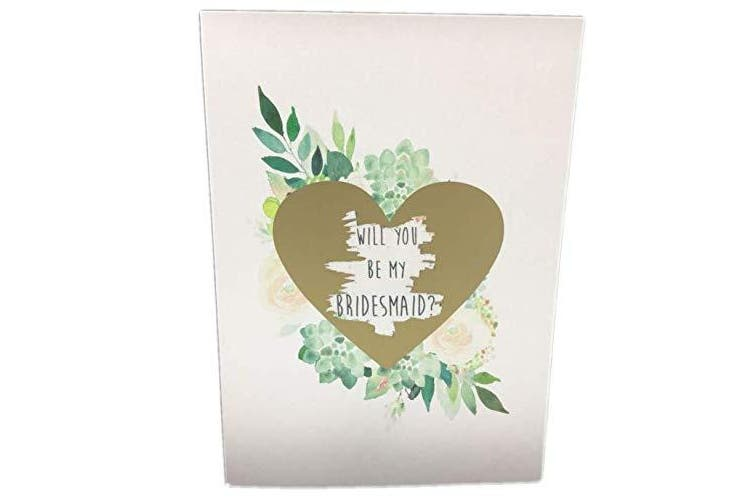 Bridesmaid Proposal Card. Will You be My Bridesmaid. Scratch Off Hidden Message Card