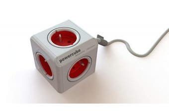 (Type E, Red) - Allocacoc PowerCube Extendeds (Type E, Red)