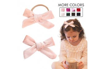(Nylon Headband, Pink) - Baby Girl Headbands Nylon Knotted Hairbands Pink Hair Accessories for Newborn Infant Toddler Girls