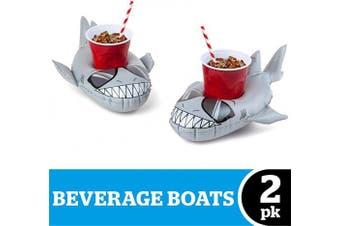 Big Mouth Toys BMDF-SH Big Mouth BEV Boat Sharks 2pk, Multi Colour