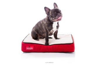 (Small, Red Sherpa) - Brindle Waterproof Designer Memory Foam Pet Bed