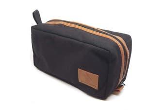 Badass Beard Care's Badass Canvas Travel Bag - Waxed Canvas and Leather with Custom Padded Pockets