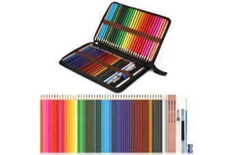 (Watercolor Pencils 56 pcs) - Watercolour Pencils, AGPtEK Professional Watercolour Pencils Set of 56, Includes Multicoloured Art Drawing Pencils 48 Pcs, 2B Pencils 3pcs and Accessories Kit, Perfect for Blending & Colour Layering